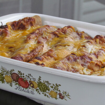 Cheesy Chicken and Black Bean Enchiladas {Freezer Meal}