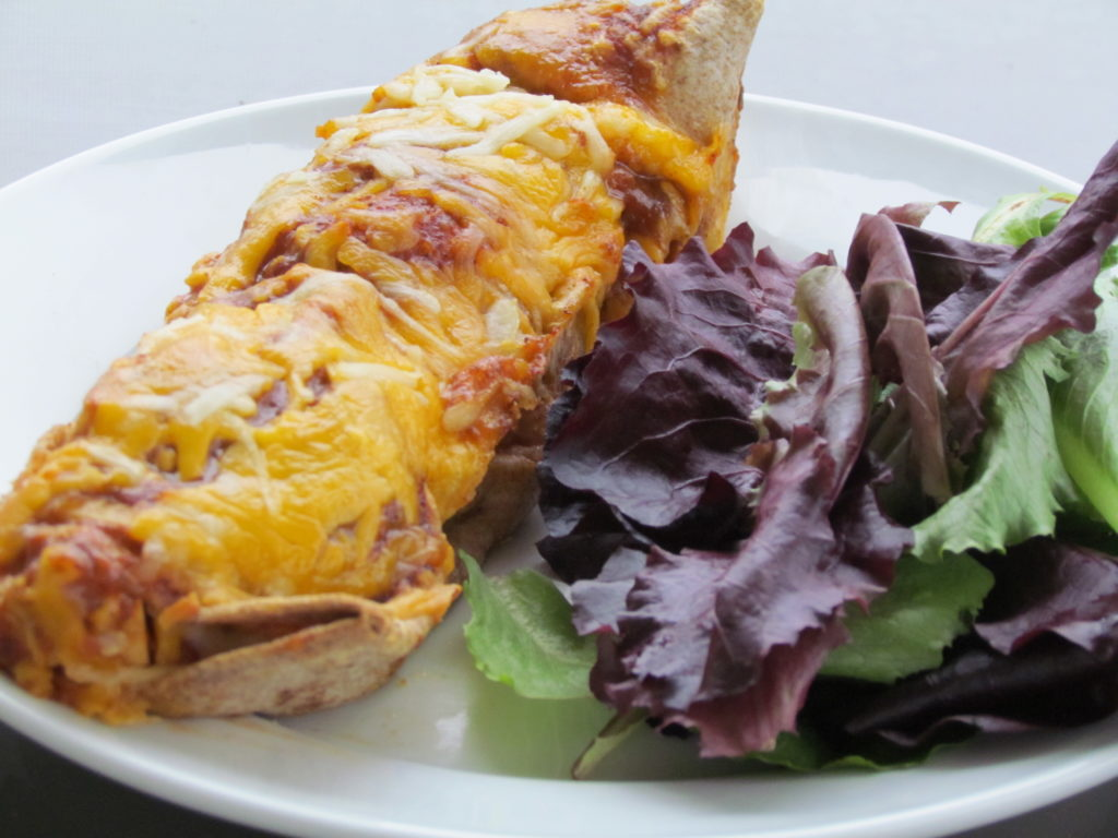 These chicken, bean, and veggie enchiladas will provide your family with some lean protein, fiber, vitamins and minerals.