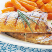 Firecracker Asian Salmon - A healthy and deeply flavorful marinated fish recipe.