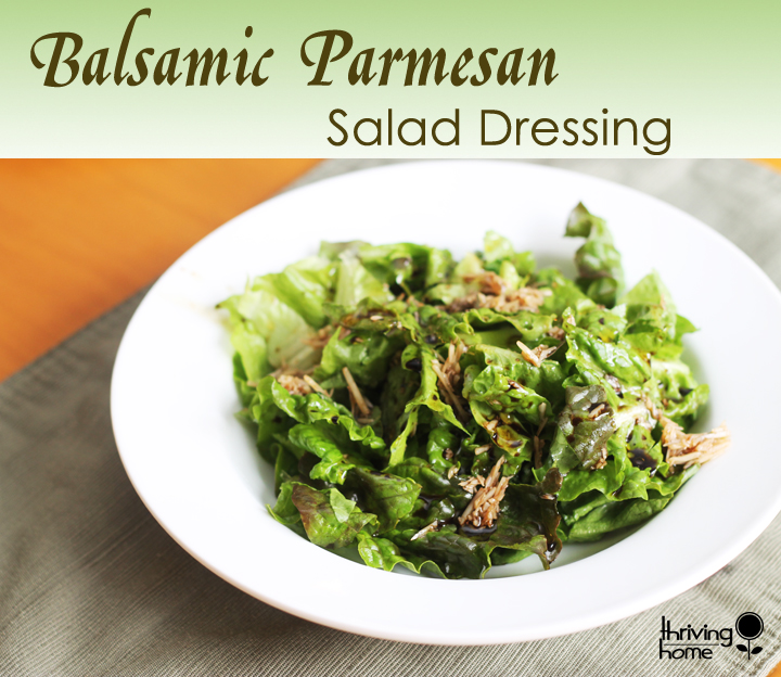 homemade balsamic salad dressing