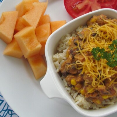 Easy Cheesy Mexican Chicken - A slow cooker recipe