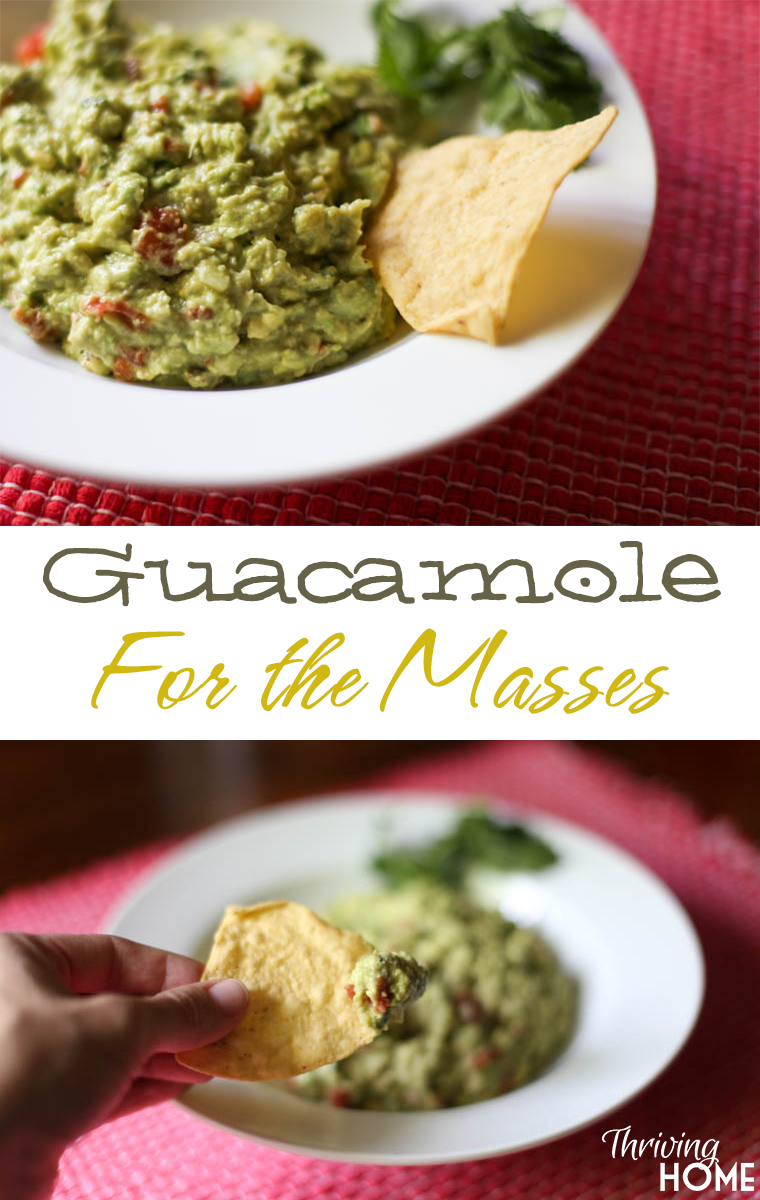 Guacamole for the masses recipe thriving home a fabulous guacamole recipe that feeds a lot of people so many fresh real forumfinder Images