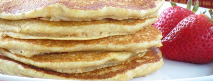 Whole Grain Sweet Potato Pancakes
