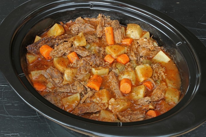 Slow Cooker Pot Roast with no processed ingredients. Just real food that's really good!