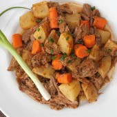 Slow Cooker Pot Roast (Sans the Processed Stuff) {Freezer Meal}