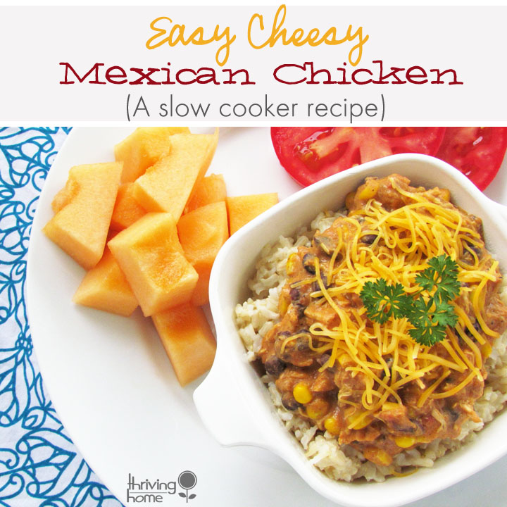 Easy Cheesy Mexican Chicken: Slow Cooker Meal