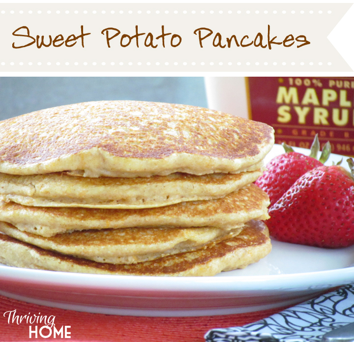 These moist, flavorful pancakes have a hidden ingredient - sweet potato. One try and you'll be hooked!