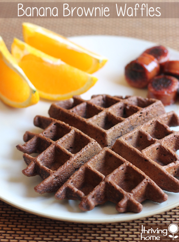 banana brownie waffles
