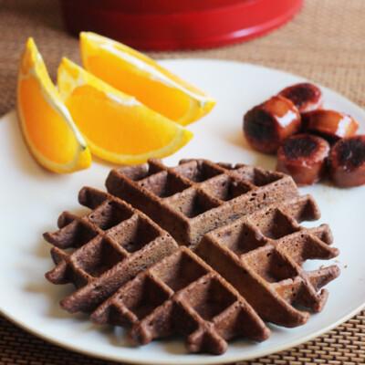 Banana Brownie Waffle Recipe {Freezer Meal}