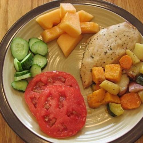 Roasted Lemon-Garlic Chicken and Veggies