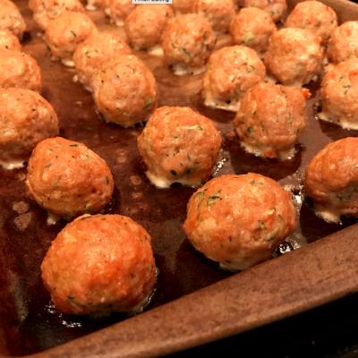 Mini Turkey and Veggie Meatballs {Freezer Meal}
