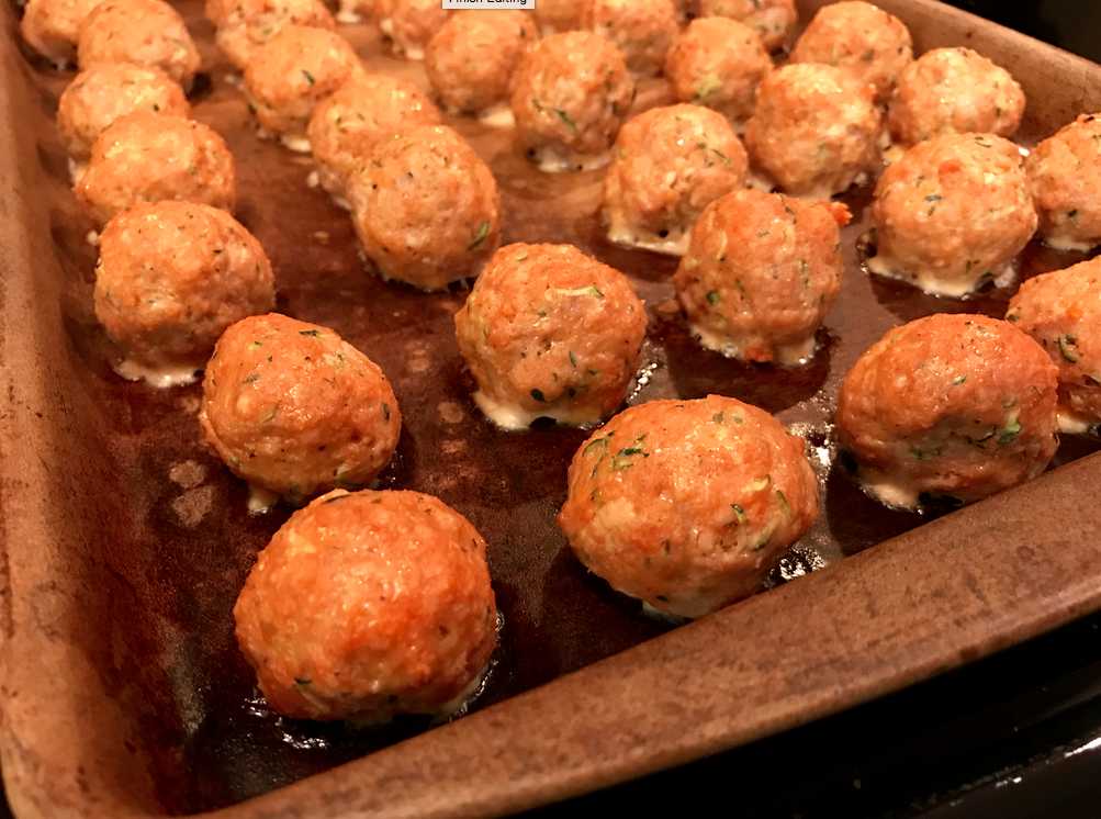 This little meatball is full of zucchini, whole wheat bread crumbs, ground turkey, and Parmesan cheese. They are sure to become a family favorite!