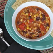 Vegetarian Tortilla Soup - A 10 minute one pot wonder!