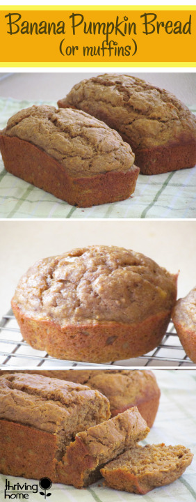 healthy Banana pumpkin bread recipe