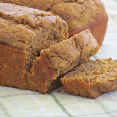 The BEST healthy whole wheat banana pumpkin bread recipe ever!