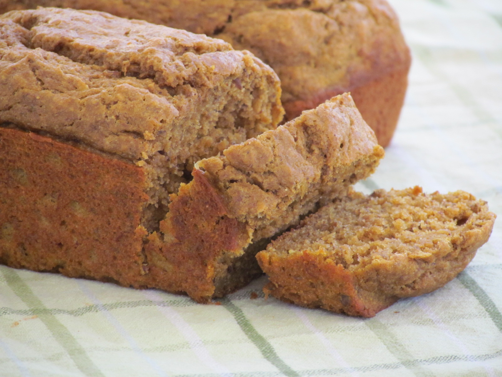 whole wheat banana pumpkin bread