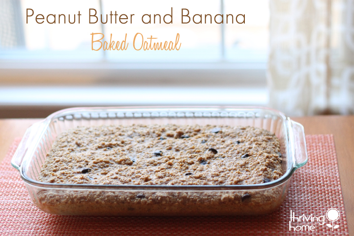 Peanut butter and banana baked oatmeal for the freezer