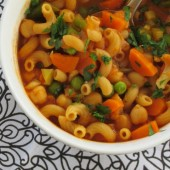 Vegetable Minestrone Soup {Freezer Meal}