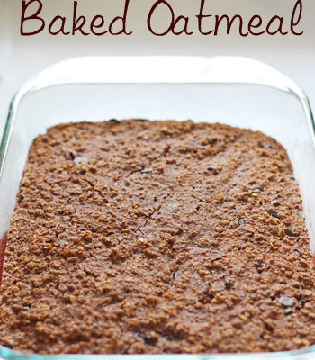 Brownie Baked Oatmeal Recipe {Freezer Meal}