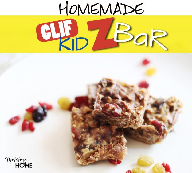 homemade clif kid z bar recipe