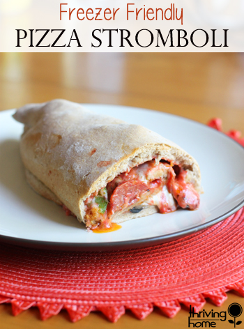 These homemade strombolis make a great meal that can be personalized to the likes of your family! Made with whole wheat and filled with cheesy goodness, these are a winner!