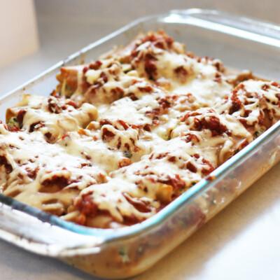 Spinach Lasagna Roll-Ups {Freezer Meal}
