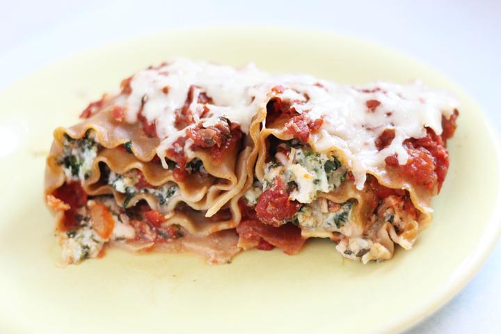 spinach chicken lasagna rolls