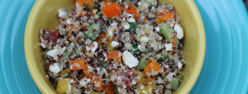 Garden Fresh Tabbouleh Salad is a great way to use up veggies and eat on a delicious bowl of healthy goodness all week long!
