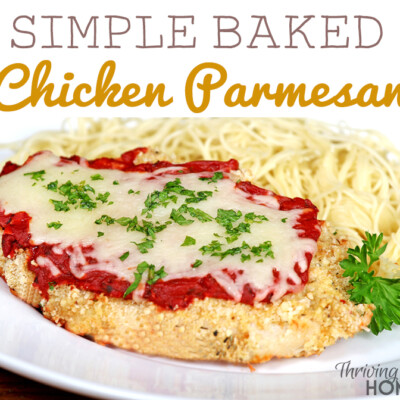 Simple Baked Chicken Parmesan - An easy, healthy and delicious recipe, perfect for any beginner cook.