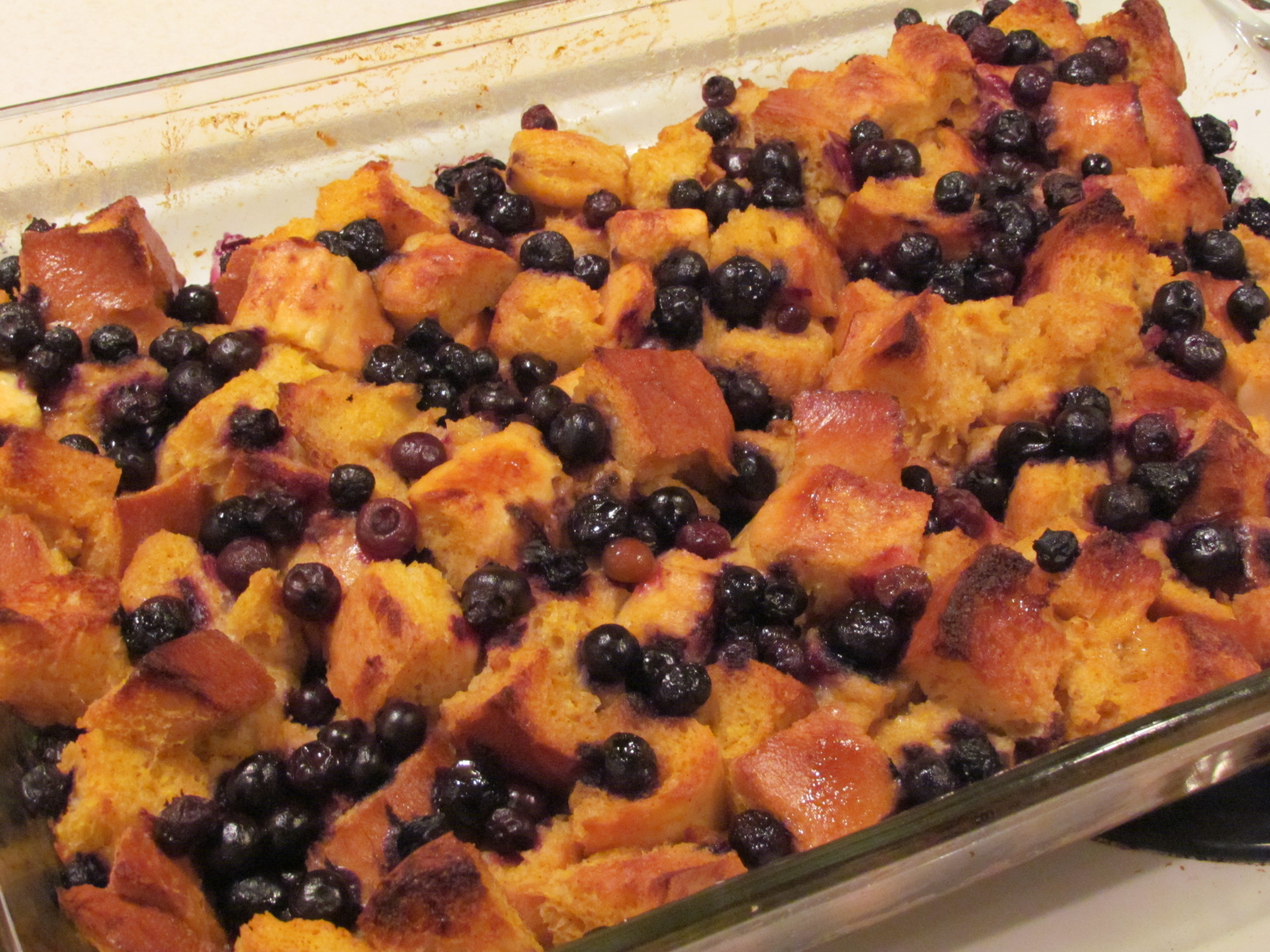 Blueberry Pumpkin Baked French Toast | Thriving Home