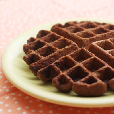 Whole Wheat Pumpkin Chocolate Waffles {Freezer Meal}