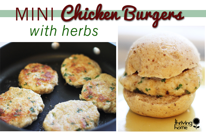 mini chicken burger recipe