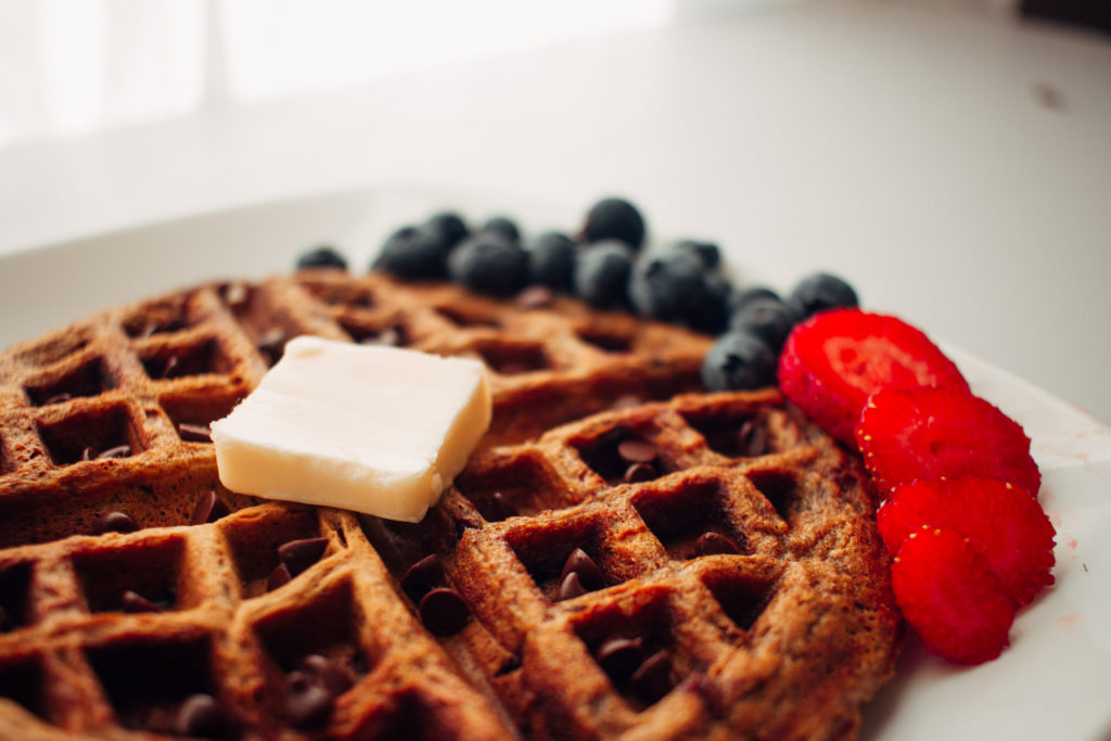 Pumpkin chocolate waffle