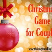 Fun Christmas Game for Couples (+ Free Printable)