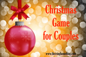 Christmas Game for Couples
