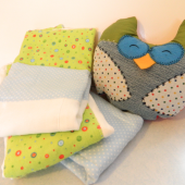 DIY Baby Gift: Owl Pillow and Burp Cloths