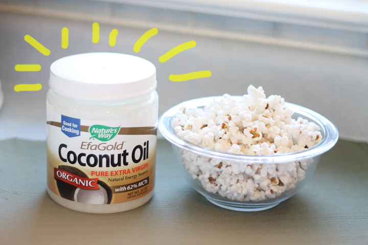 use coconut oil to make popcorn