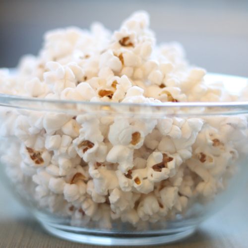 homemade popcorn with coconut oil
