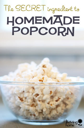 The best homemade popcorn that only has 3 ingredients and cooks in a flash!