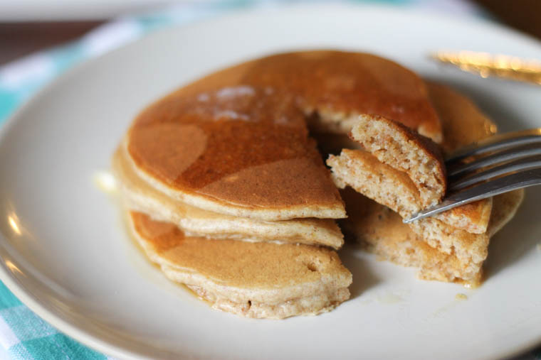 Oatmeal pancakes on a plate