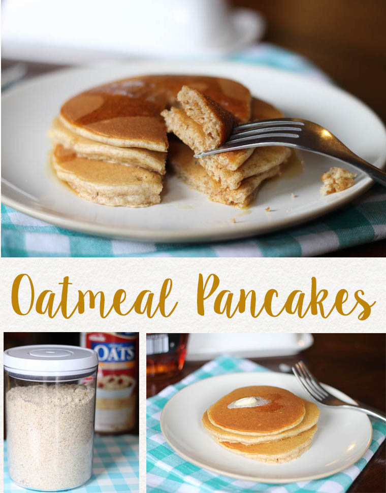 This oatmeal pancake recipe is packed with high quality ingredients that will satisfy all your hungry eaters.