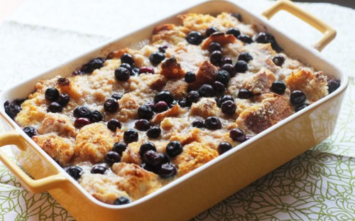 blueberry pumpkin baked french toast