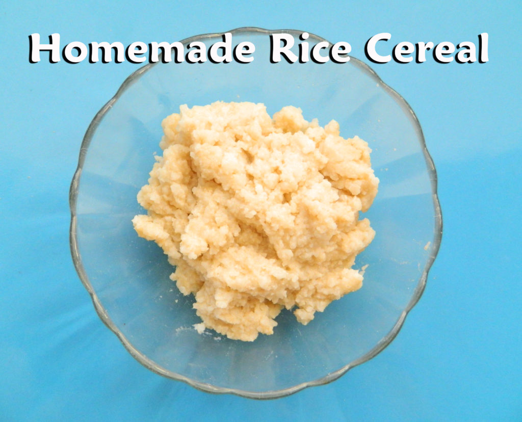 By simply using a box of whole grain rice, you can create a healthy version of rice cereal for your baby.