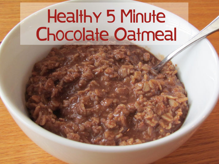 healthy 5 minute chocolate oatmeal