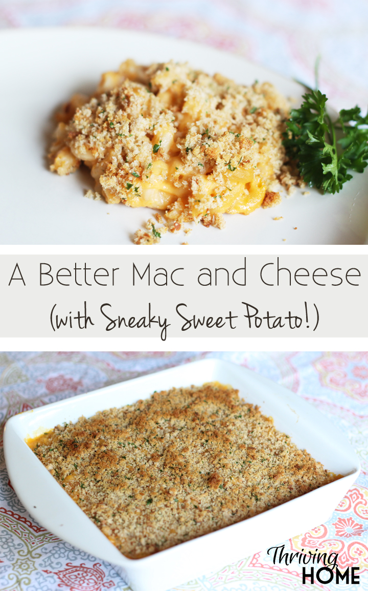A better mac and cheese with sneaky sweet potato