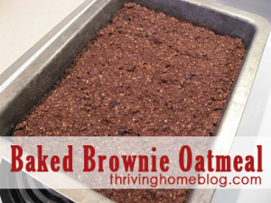 Brownie Baked Oatmeal Recipe