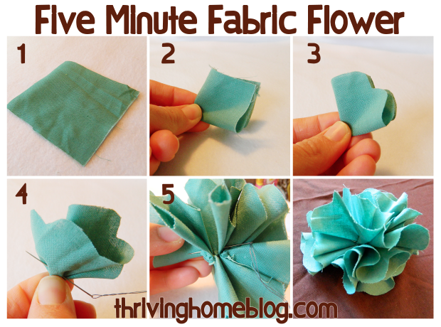 Five Minute Fabric Flowers Thriving Home