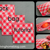 DIY Reusable Snack Bags - Go Green!