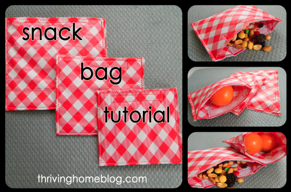 Diy Reusable Snack Bags Go Green Thriving Home