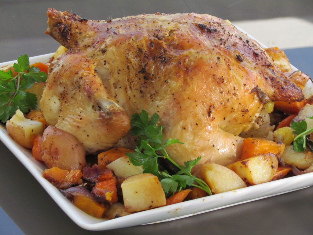 Simple, fresh ingredients yield a moist, flavorful one-pot chicken meal.
